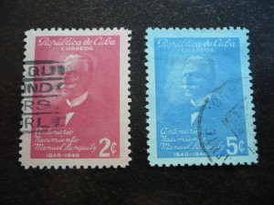 Stamps - Cuba - Scott# 435-436 - Used Set of 2 Stamps