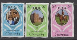 GRENADA SGO17/9 1981 ROYAL WEDDING OFFICIALS MNH
