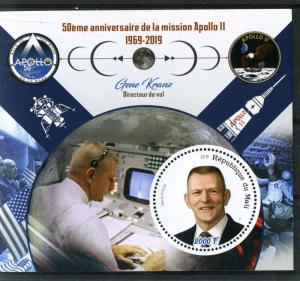 MALI 2019 SPACE Apollo 11 Anniversary Gene Kranz s/s Perforated Mint (NH) #2