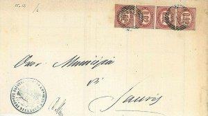 ITALIA REGNO - VENETO : annullo AUSTRIACO : AMPEZZO 1875