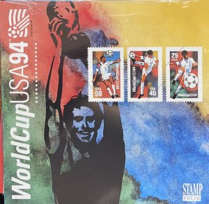 US Stamp Folio 1994 World Cup Soccer Souvenir Sheet 2837