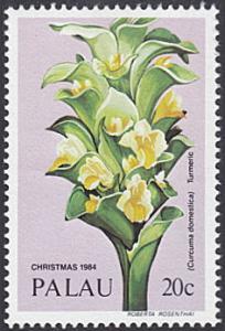Palau # 61 mnh ~ 20¢ Christmas Flower - Turmeric