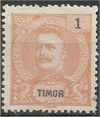 TIMOR, 1898, MVLH 1a  King Carlos Scott 54