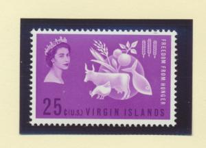 British Virgin Islands Scott #140, Mint Never Hinged MNH, Freedom From Hunger...