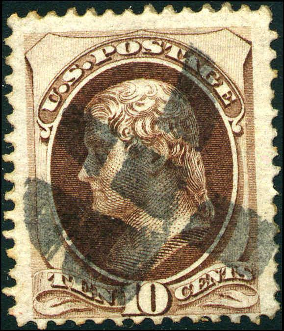 1870 US Stamp #139 10c Used H Grill Perf 12 Catalogue Value $800