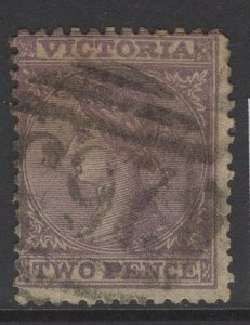 VICTORIA SG132h 1869 2d DULL LILAC USED