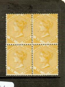 JAMAICA  (P2605B) QV 6D S 23 BL OF 4   MOG