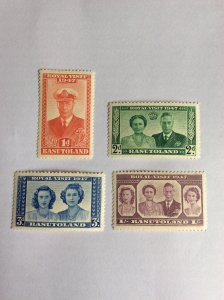 Basutoland Royal Visit set 1947 Mint Hinged