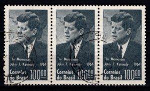 Brazil 1964 President Kennedy Commemoration Block [Used]
