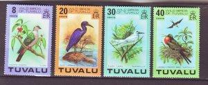 J22201 Jlstamps 1978 tuvalu set mnh #73-6 birds