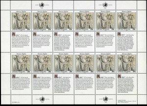 UN NY 582-583 ac sheets,MNH.Mi 606-607. Declaration of Human Rights,1990.Art.