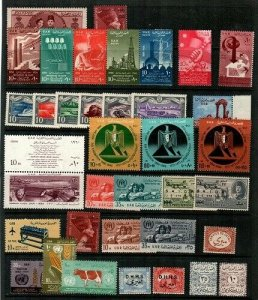 Egypt - small collection of Mint NH sets and S/S (few singles) - CV $101.00