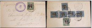 A) 1904, EL SALVADOR, FROM SANTA ELENA TO BARCELONA, RAFAEL CAMPO AND JOSE MATIA