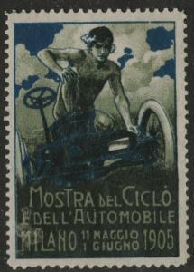 Mostra del Ciclo Edell Automobile Milano 1905 - crease label x4