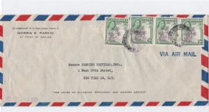 jamaica large air mail stamps cover ref r15521