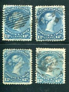 Canada #28,b,i,ii  Used  F-VF  - Lakeshore Philatelics