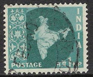 India #275 Map of India Used