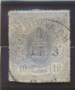 Luxembourg Stamp Scott #19b, Used - Free U.S. Shipping, Free Worldwide Shippi...
