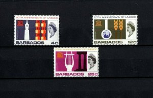 BARBADOS - 1966 - QE II - UNESCO - EDUCATION - SCIENCE - CULTURE - MINT MNH SET!
