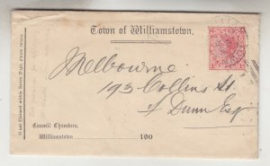 VICTORIA, WILLIAMSTOWN cds., 1905 cover, 1d., Council Chamners, 1d. to Melbourne