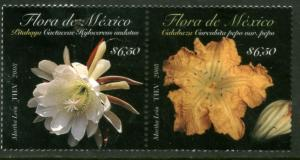MEXICO 2594, FLORA OF MEXICO PAIR..MINT NH. F-VF.