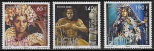 French Polynesia Scott #'s 977 - 979 MNH
