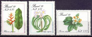Brazil. 1989. 2299-2301. Endangered plants. MNH.