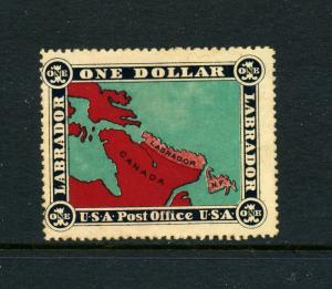 Labrador Canada $1 USA Post Office Poster Stamp Newfoundland Cinderella Lot L178