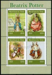 Chad Beatrix Potter Stamps 2019 CTO Peter Rabbit Foxes Rabbits Animals 4v M/S