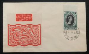 1953 Pitcairn Island QE 2 Coronation First Day Cover Queen Elizabeth FDC Unadres