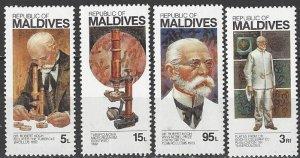 Maldive Islands  970-3   MNH  Dr. Robert Koch TB Bacillus