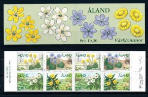 [58616] Aland 1997 Spring Flowers Booklet MNH