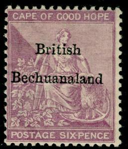 BECHUANALAND SG7, 6d reddish purple, LH MINT. Cat £190.