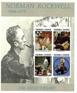 Sierra Leone NNH S/S Norman Rockwell Paintings 2004