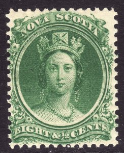 1860-63 Canada Nova Scotia Queen Victoria QV 8½¢ MMHH Sc# 11a CV $15.00 Stk #2