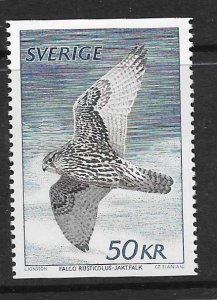 SWEDEN,1351 HINGED, GYRFALCON