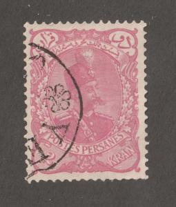 Persia Stamp, Scott# 114, used hinged, 2Kran, Pink,  Perf 12.5 x 12.0,#L-61