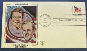 Z-Silk Inauguration Day 1981 Ronald Reagan George Bush Washington DC