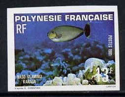 French Polynesia 1981 13f Zebra Unicornfish imperf single...