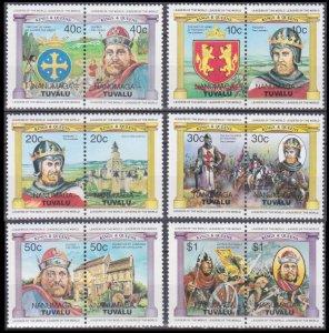 1984 Tuvalu-Nanumaga 19-24Paar English monarchs 11,00 €