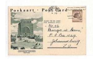 AJ184 1958 South Africa Blomfontein Pretoria Postcard PTS