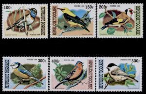 Togo 1882a-f MNH Birds