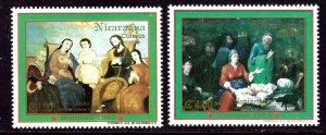Nicaragua 1980A-1980B MNH 1993 Christmas    (ap6396)