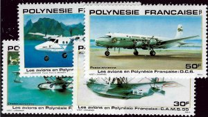 French Polynesia SC C180-C183 MNH VF...Worth a Close look!!