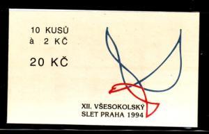 Czech Rep Sc 2626 Pan -Sokol Rally stamp booklet mint NH