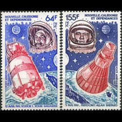 NEW CALEDONIA 1981 - Scott# C172-3 Space Set of 2 NH