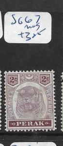 MALAYA  PERAK    (P0206B)  TIGER 2C   SG 67  MOG