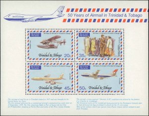 1977 Trinidad & Tobago #268-271a, Complete Set(5), Never Hinged