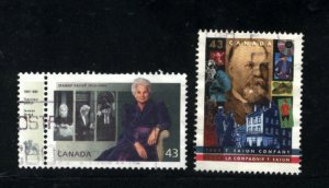 Canada #1509-10   -2    used VF 1994  PD