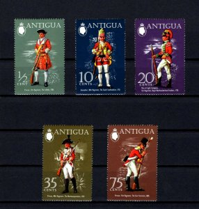 ANTIGUA - 1971 - BRITISH MILITARY UNIFORMS - GRENADIER - FUSILIER + MINT NH SET!